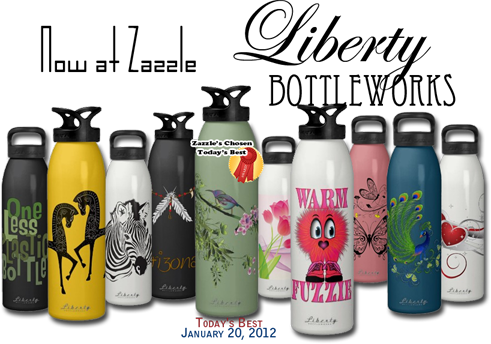 Custom designer Liberty bottles at Zazzle
