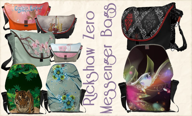 Custom Rickshaw Messenger Bags - Zazzle and Rickshaw Bagworks have teamed up - these are original custom designs